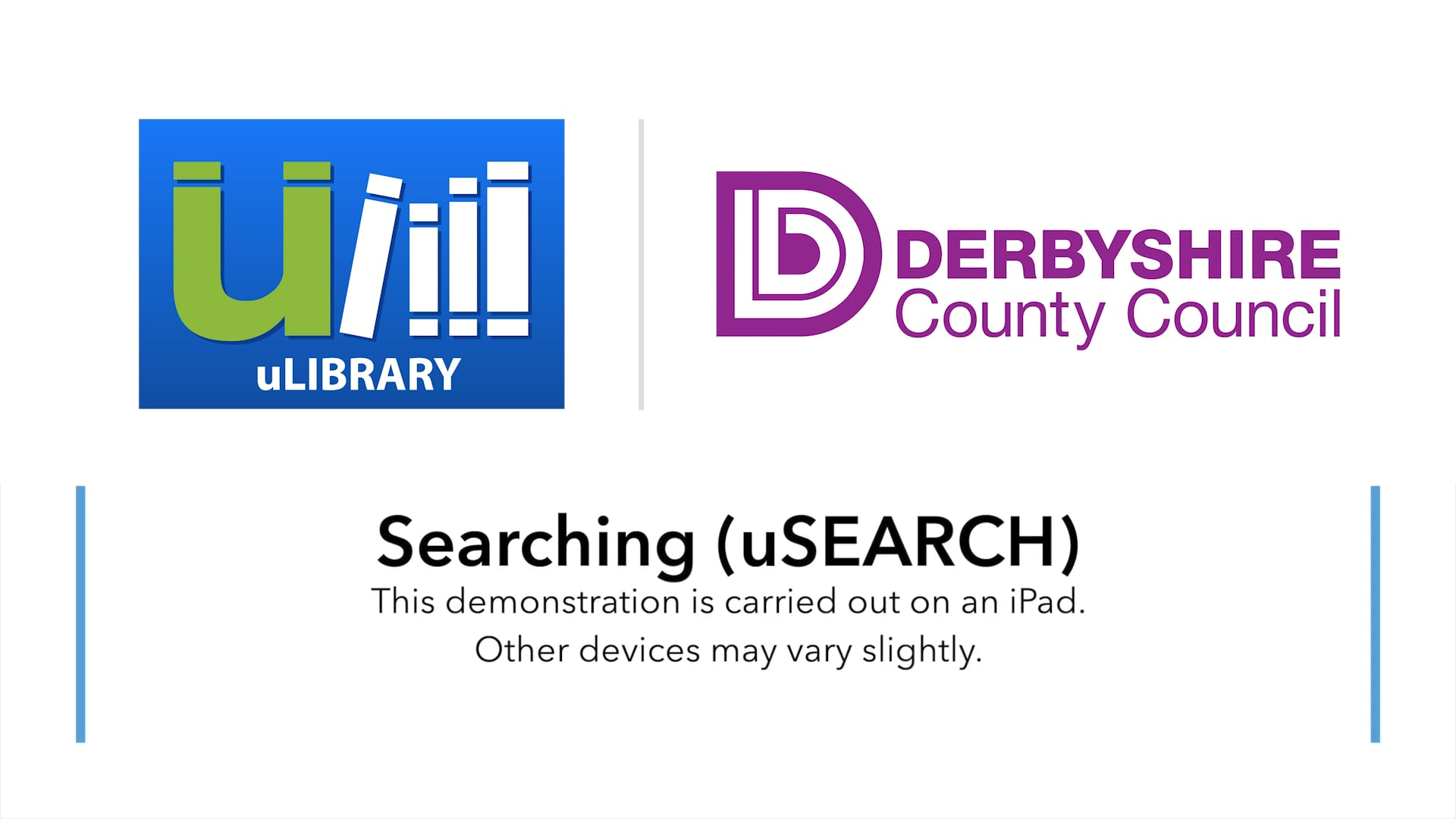 Searching uLIBRARY using the App (uSEARCH)