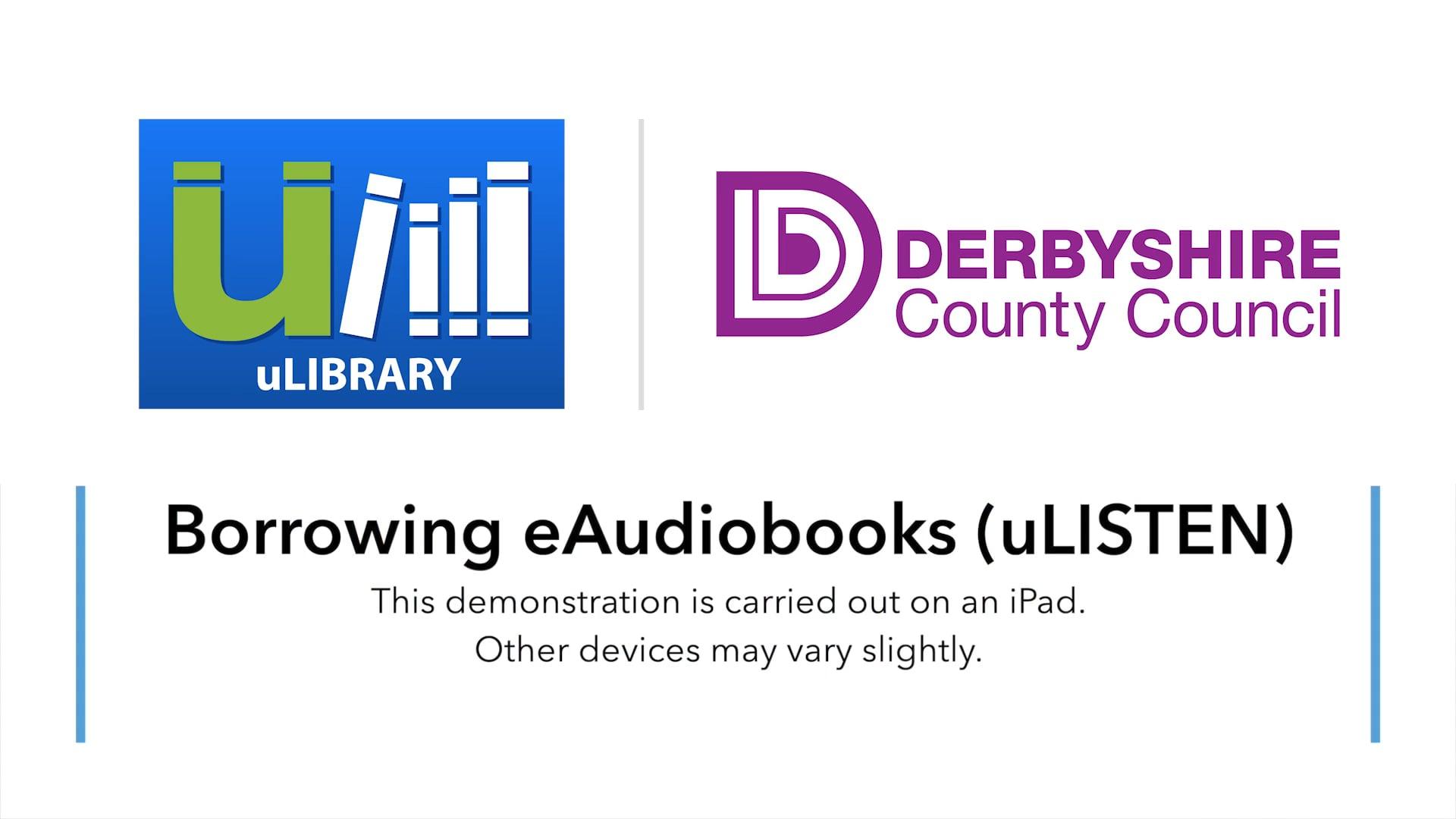 Borrowing Audiobooks On uLIBRARY (uLISTEN)