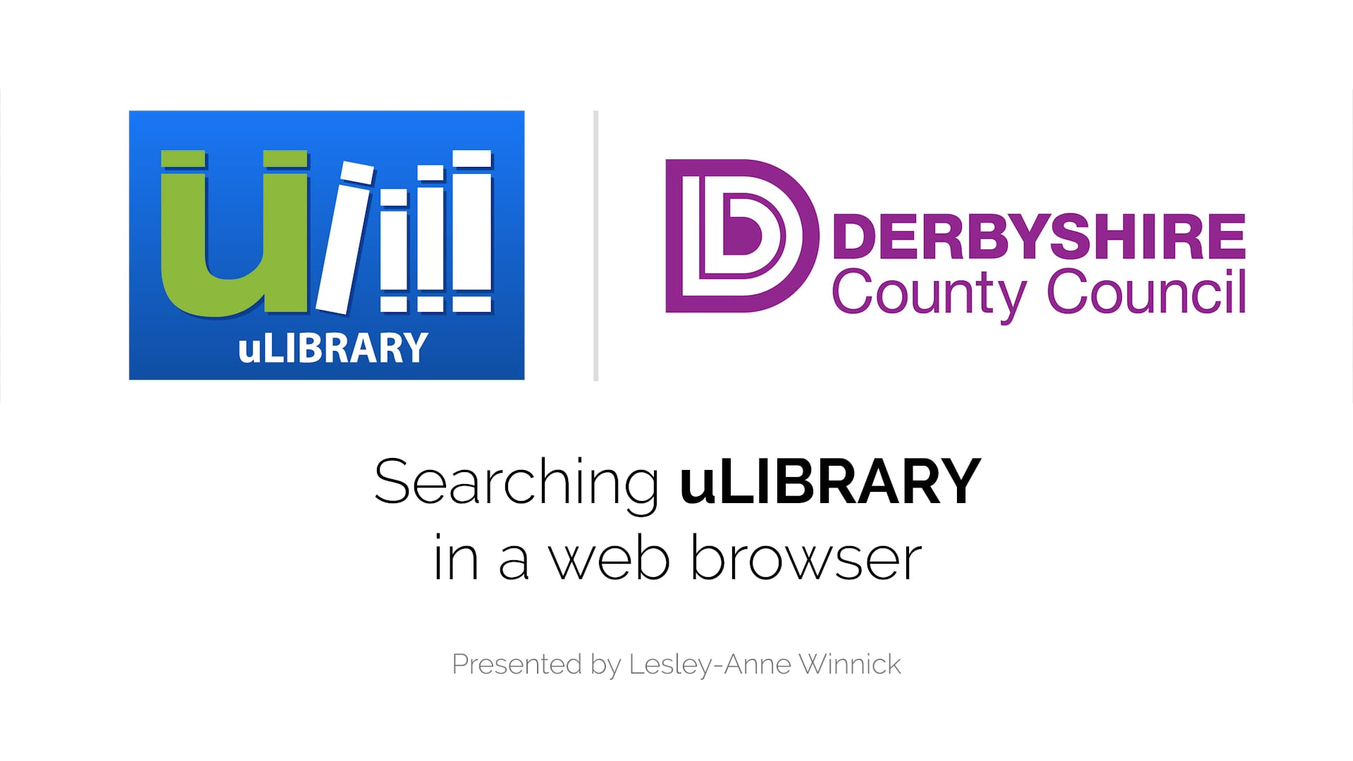 Searching uLIBRARY in a web browser